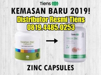 Bahan Kandungan Alami Dalam Zinc Capsule Tiens