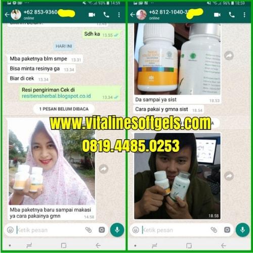 Bukti testimoni produk vitaline softgels tiens