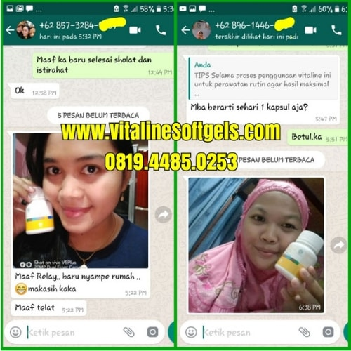 Produk Suplemen Herbal Vitaline Softgels Tiens