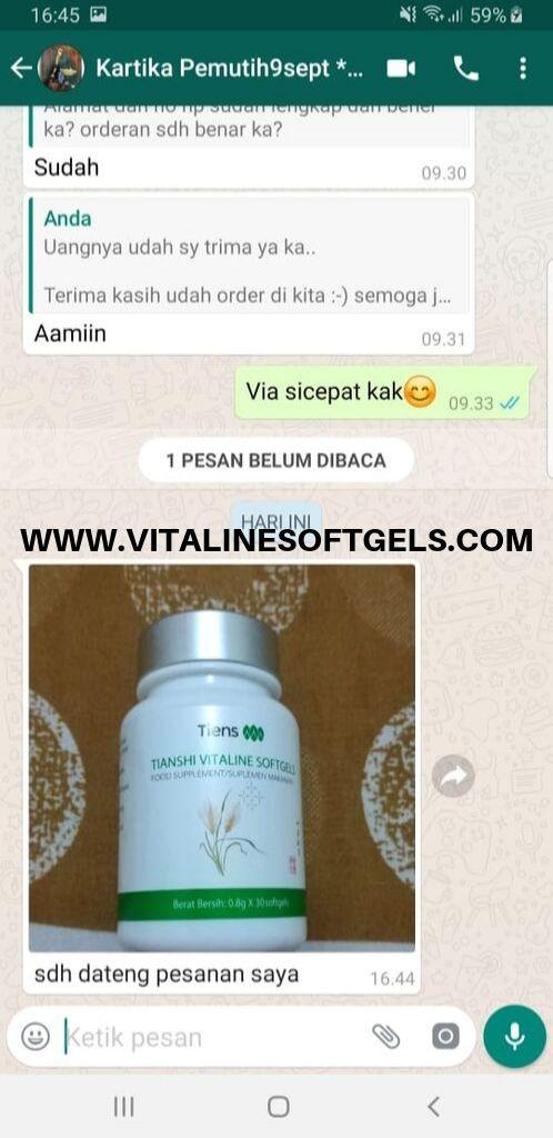Produk vitaline pemutih kulit wajah dan badan