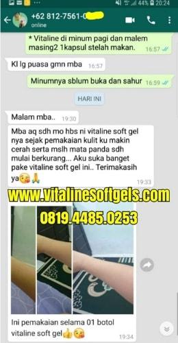 hasil masker spirulina dan vitaline softgels Tiens