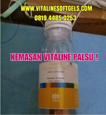 kemasan dari Vitaline Softgels