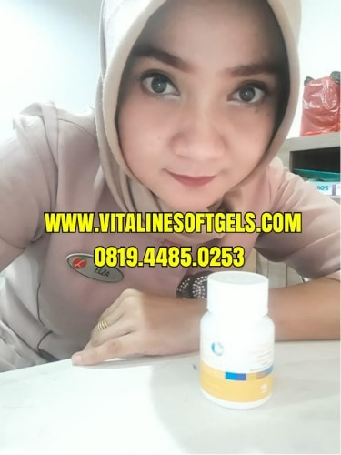review vitaline softgels tiens pemutih badan